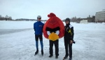 Red Kuopion sataman  jäällä