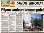 Savon Sanomat 18.7.2006